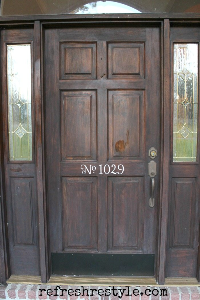 How to stain your front door refresh restyle for How to stain a wood garage door