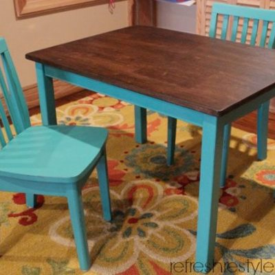 Kid's Table and Chairs {refreshed}