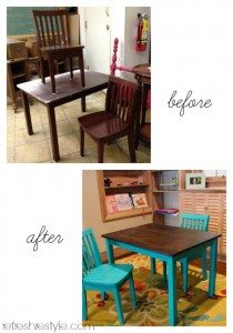 Table and Chair before and after