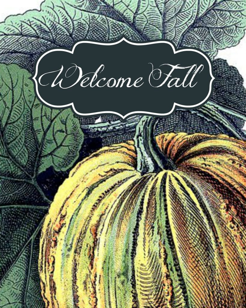 Autumn Print - free fall printable - Farmhouse decor idea from Refresh Restyle