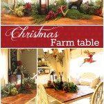 Farm Table Christmas