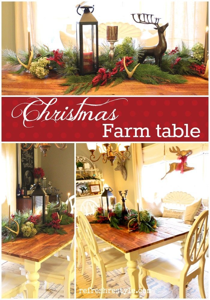 Farm Table Christmas