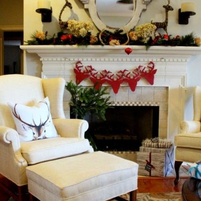 Christmas Mantel {Deer Inspired}