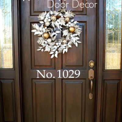 Silver and Gold Door Decor