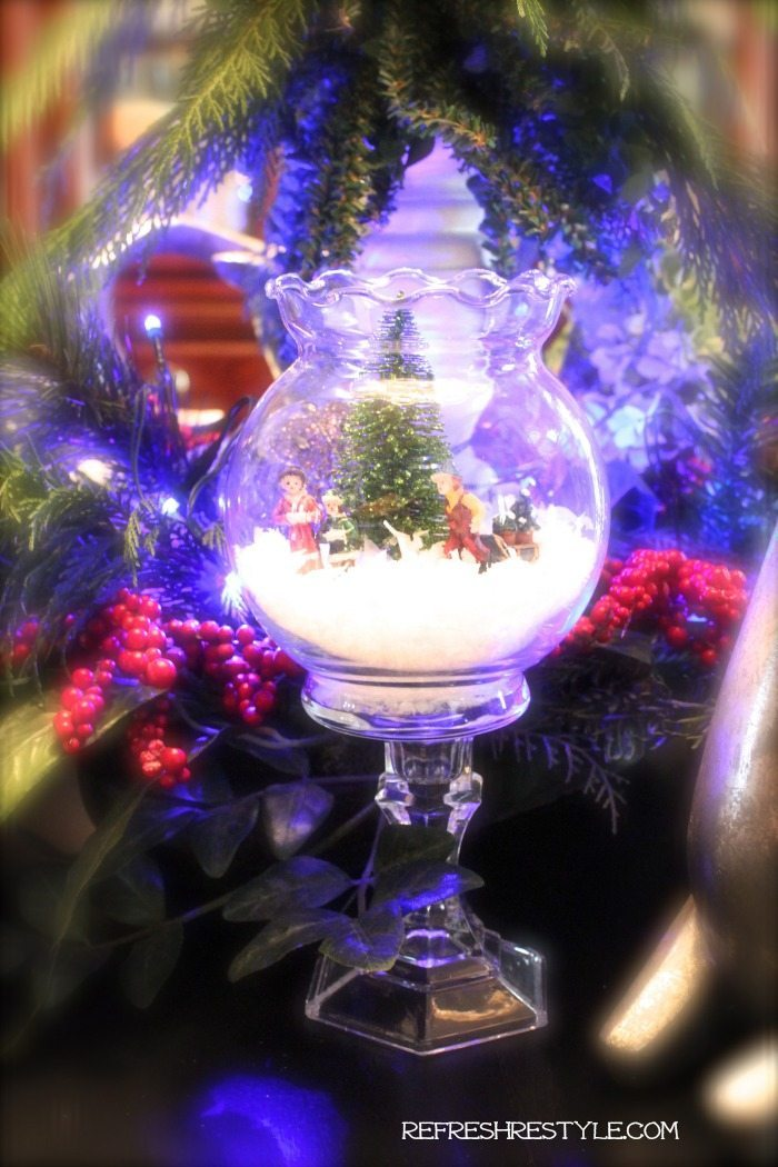 Mini snow globe diy refresh restyle for Led craft christmas lights