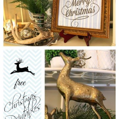 Christmas Printables in Blue