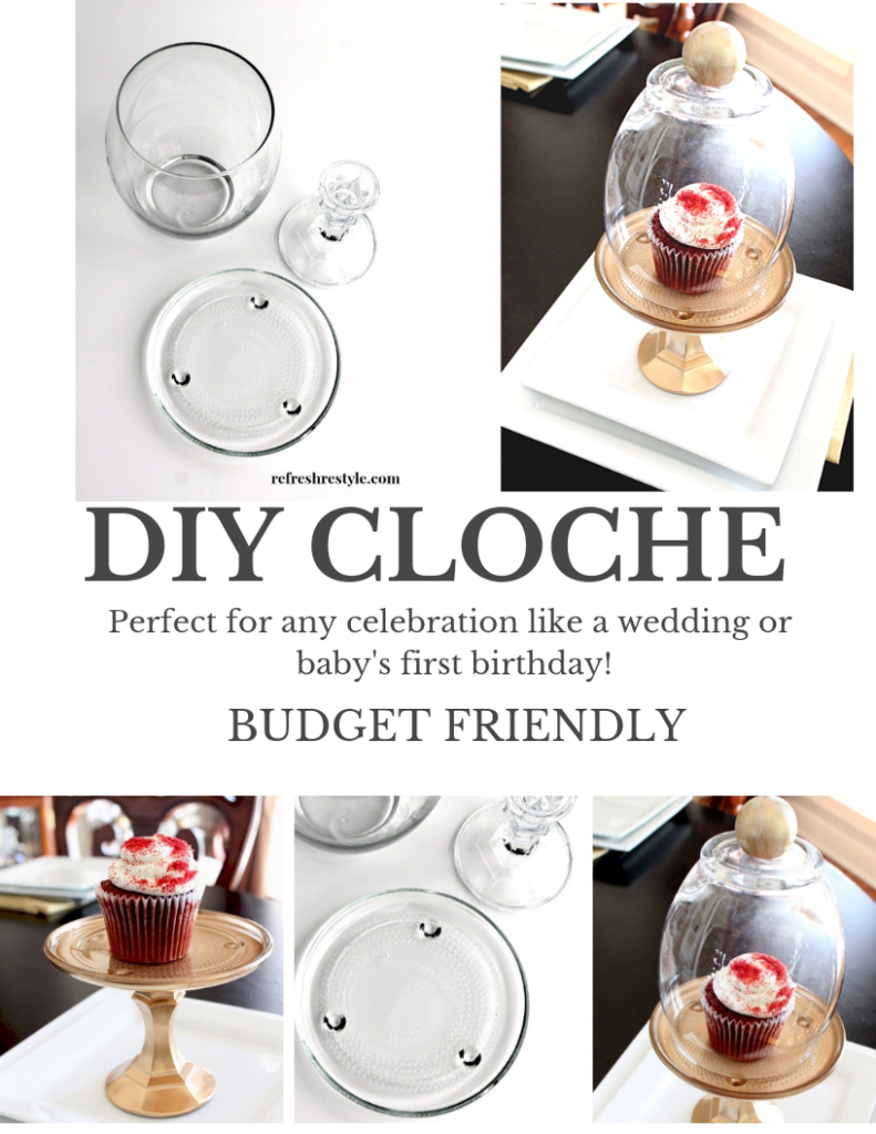 DIY Cloche - Dollar tree items for a DIY Cloche make holidays and celebrations fun!