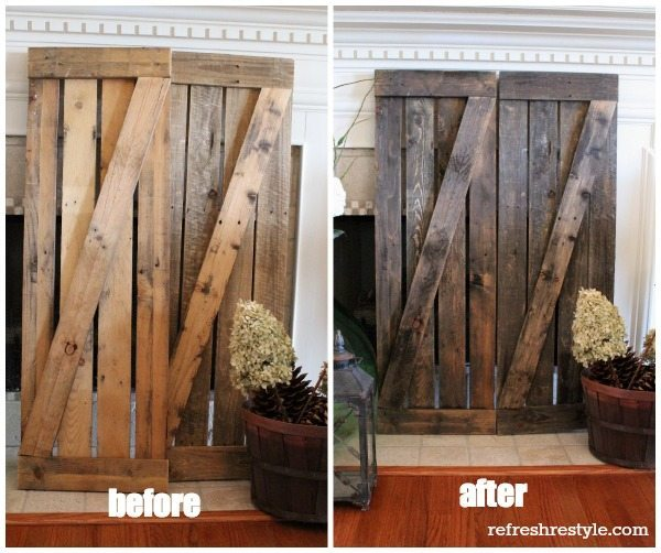 Driftwood before after