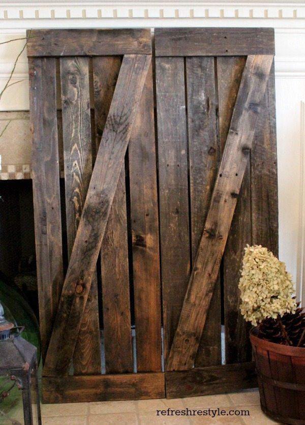 Driftwood shutters