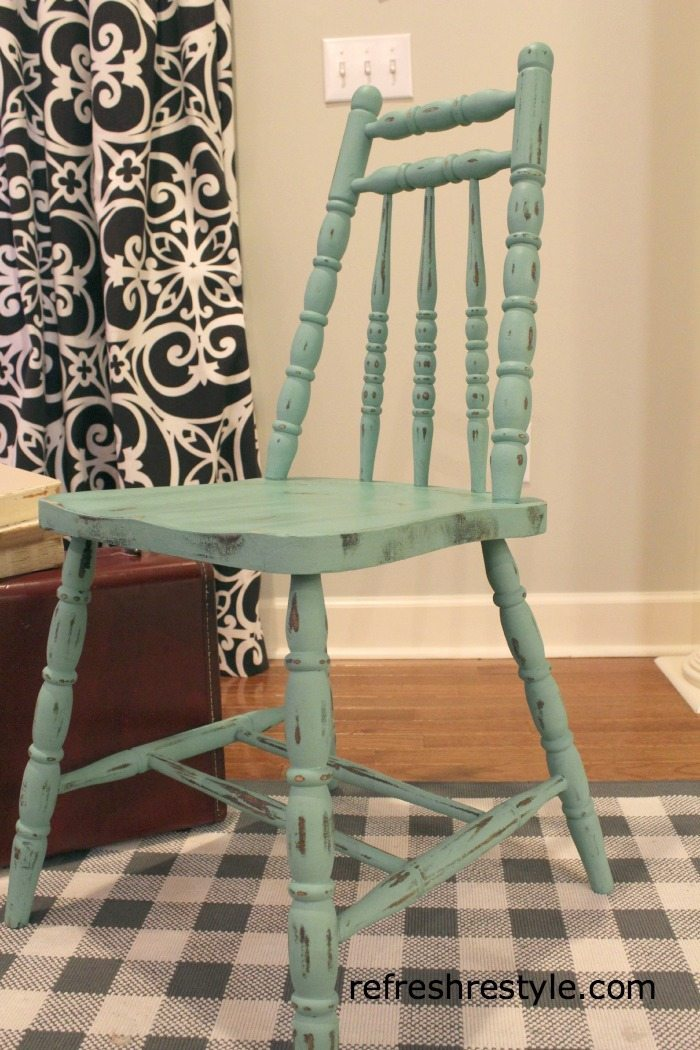 Chair Makeover in blue
