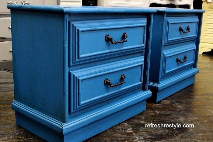 Faux Bamboo Furniture   Painted