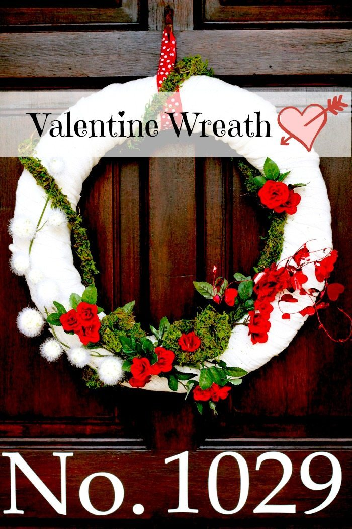 Valentine Wreath from a sweater