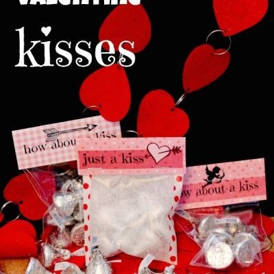 Valentine's Day Kisses {free printables}