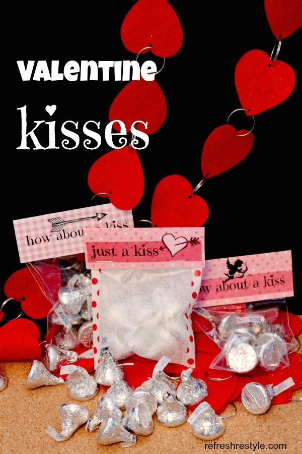 Valentine's Day Kisses printables are perfect for gift giving