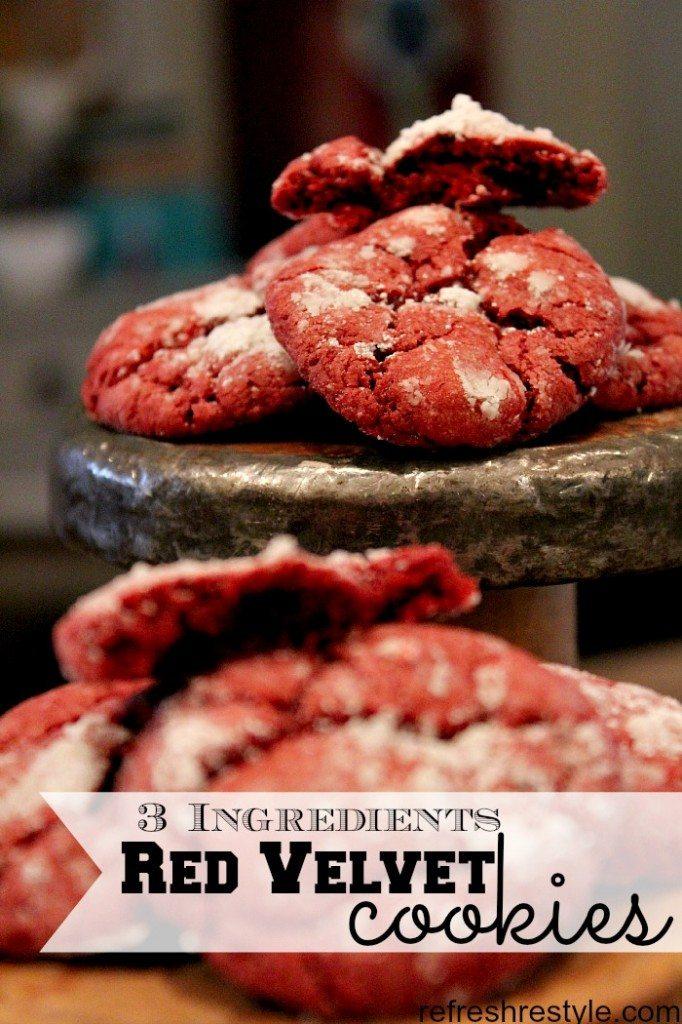 Red Velvet Cookie - Three Ingredient