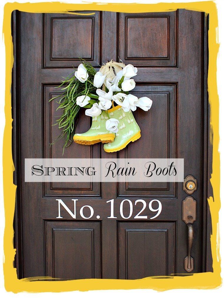 Rain Boots on the door