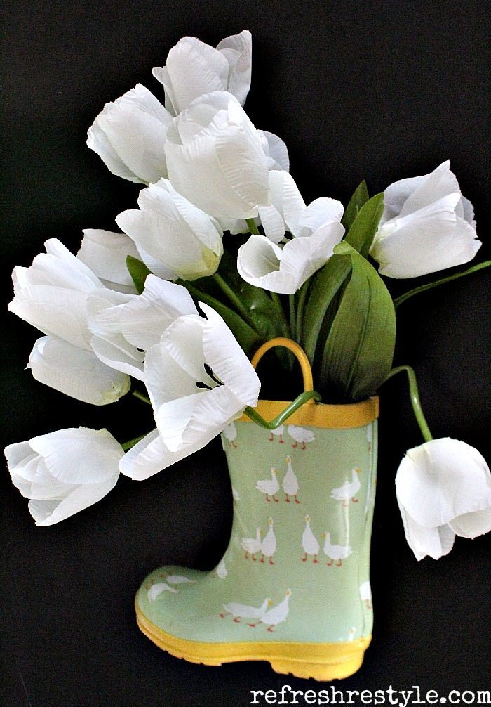 Rain Boots Tulips and boots