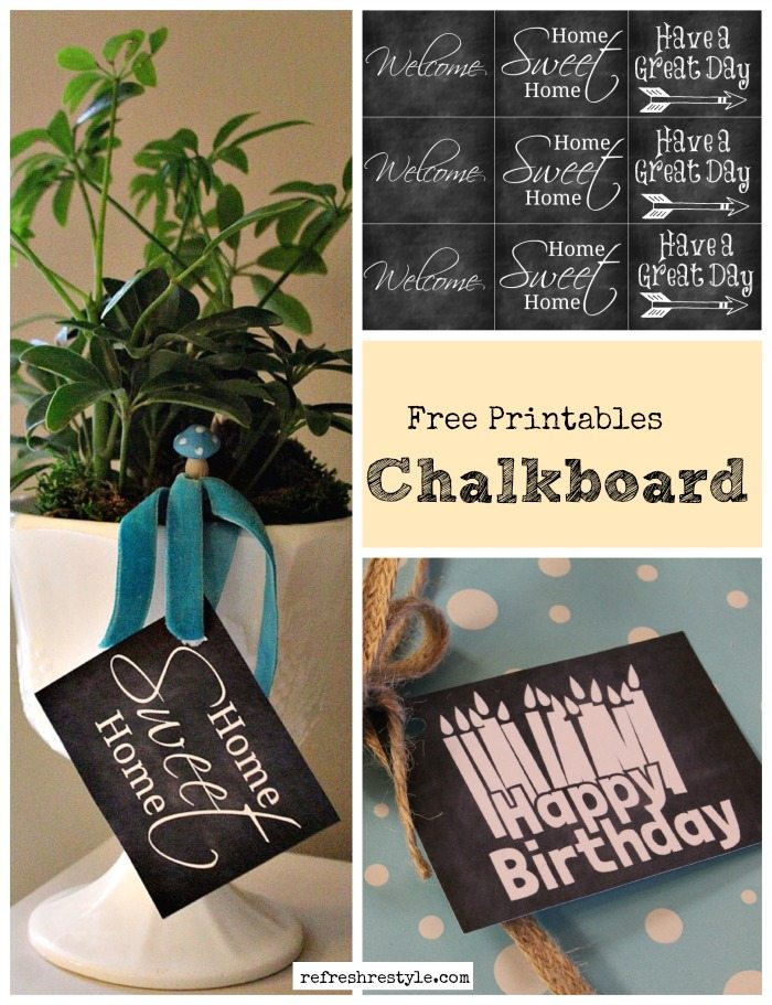 Chalkboard Printable Birthday