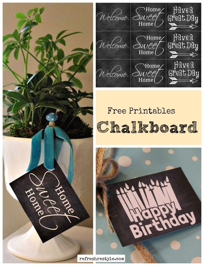 Chalkboard Printable Birthday