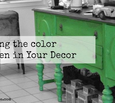 Using Green in Your Decor