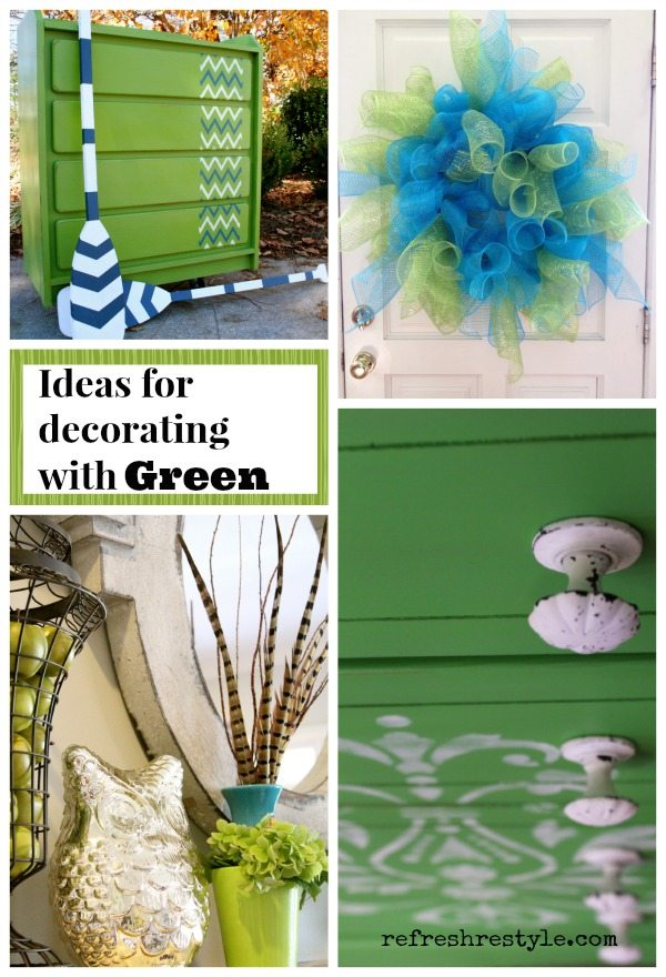 Ideas for using Green in your Decor