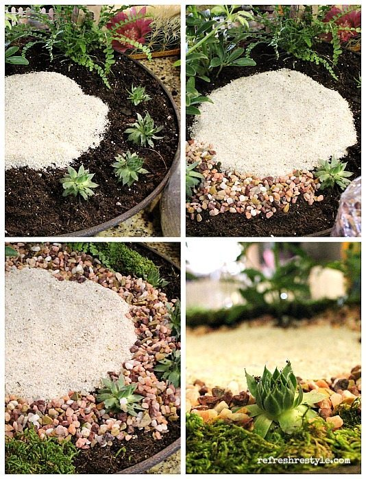 Mini Garden Sand and Pebbles