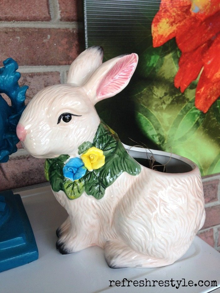 Rabbit Runn Designs A Kitchen Makeover: Pottery Barn Ceramic Bunny Look For Less