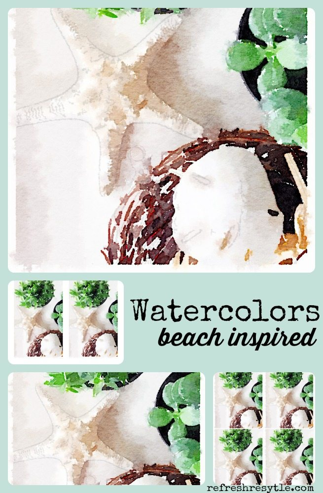 Watercolors Beach Inspired