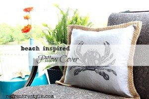 Beach Inspired Pillow Cover #diy