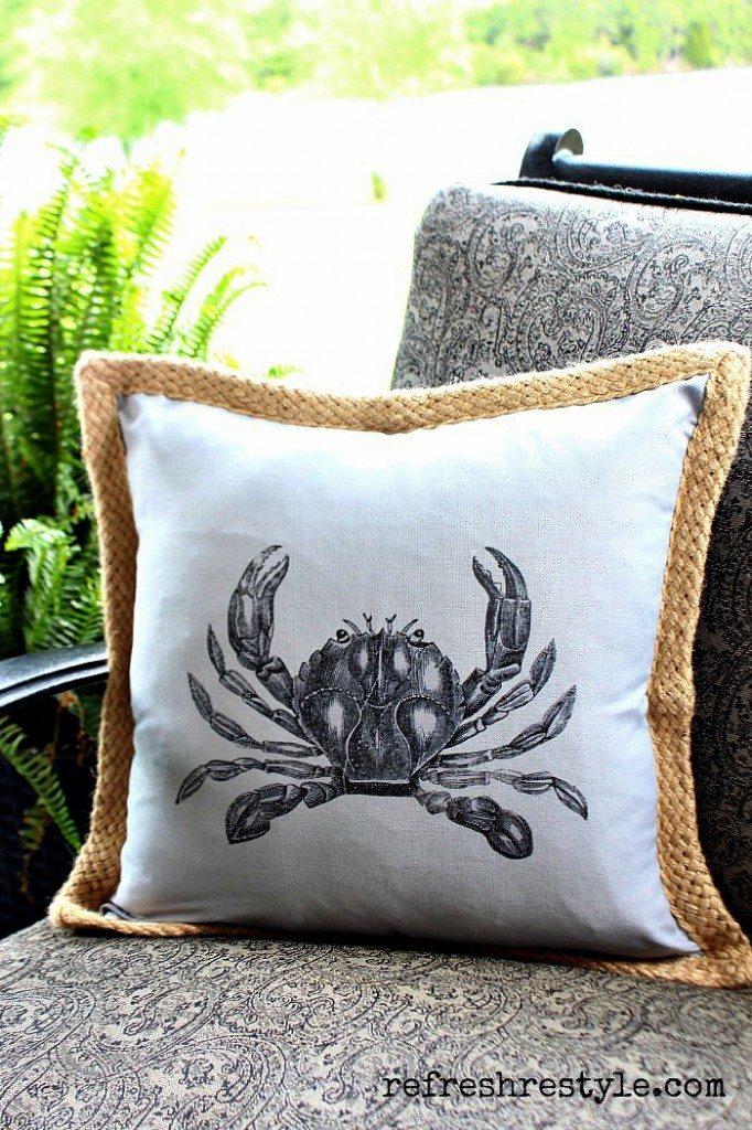 Beach Inspired - Crab Pillow