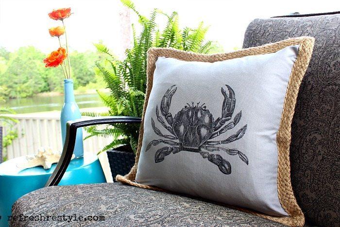 Beach Inspired - Pillow Crab