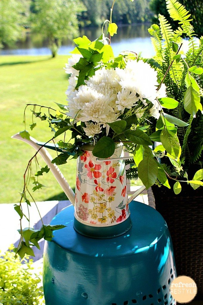 Fresh Flowers in watering can