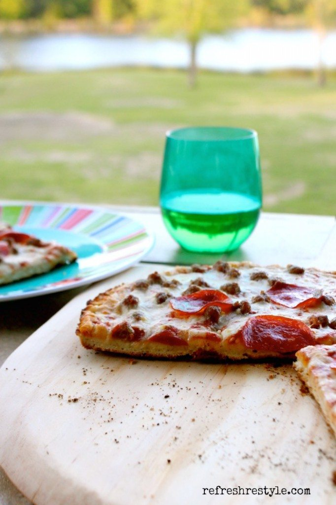 Grilled Pizza Date Night