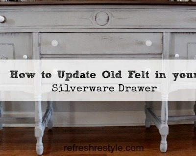 How to Replace Old Felt in a Silverware Drawer
