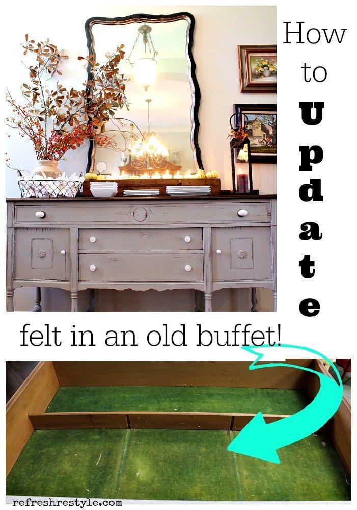 How to Update felt in an old buffet.jpg