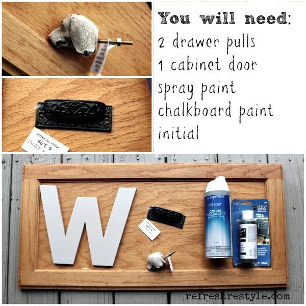 How to make a cool Monogramed chalkboard