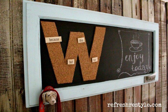 DIY Monogrammed Chalkboard #diychalkboard #monogram #chalkboard