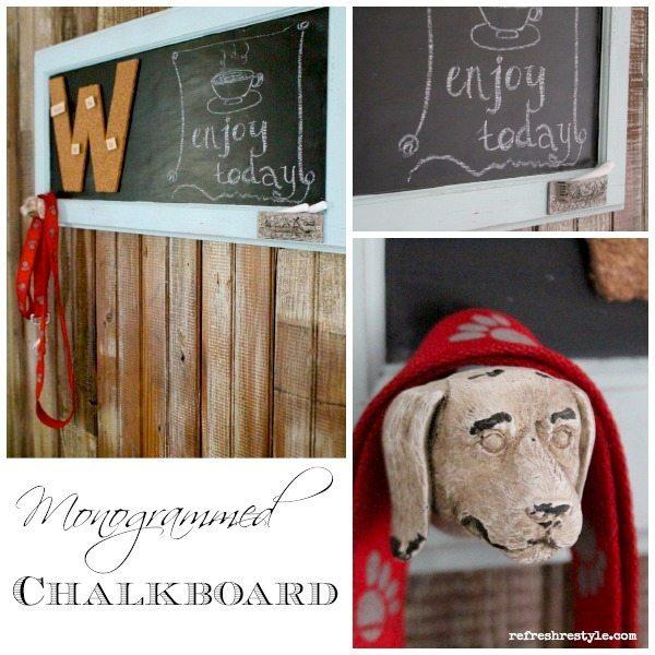 Monogrammed chalkboard - DIY