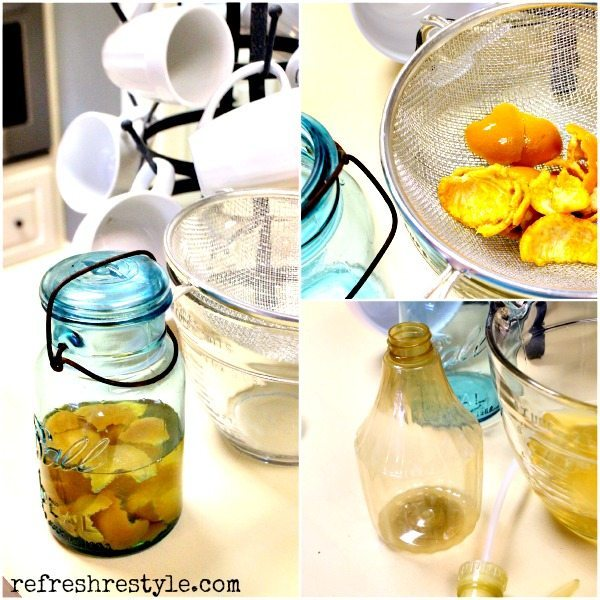 Natural Orange Cleaner - DIY Instructions #naturalcleaner