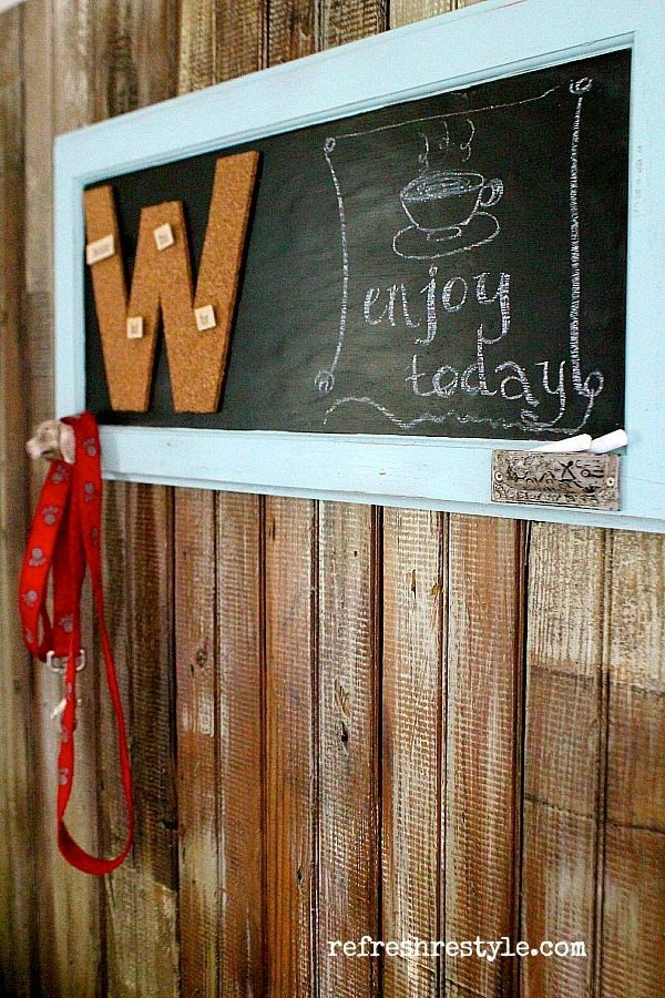 Easy DIY - monogrammed chalkboard