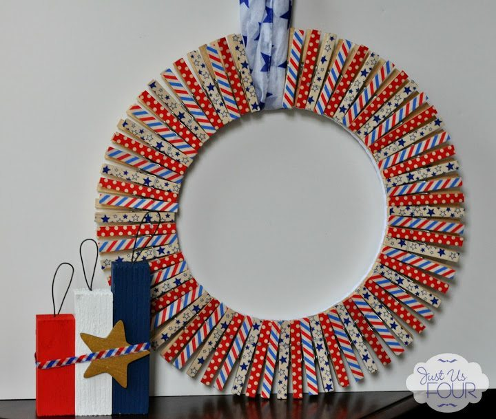01 - Just Us Four - Washi Tape Wreath