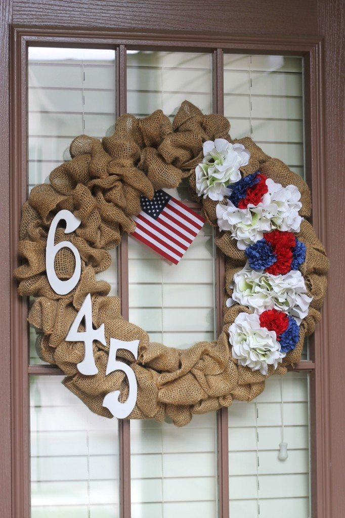 03 - Domestic Superhero - Burlap Wreath