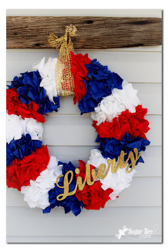 04 - Sugar Bee Crafts - Liberty Wreath