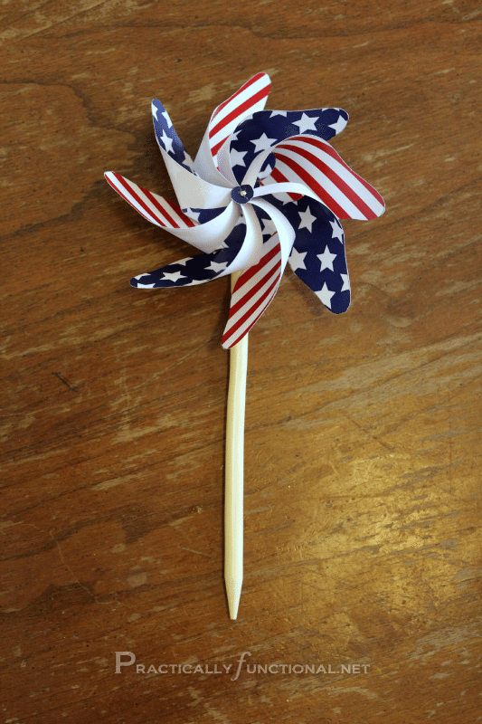 10 - Practically Functional - July 4th Pinwheels