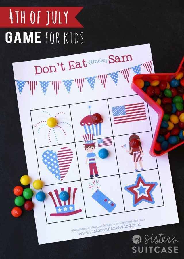 14 - My Sisters Suitcase - Printable July 4th Game