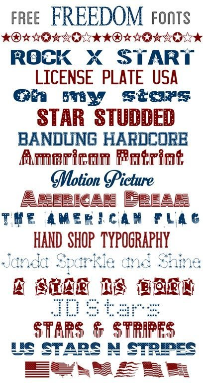 15 - Over the Big Moon - July 4th Free Fonts