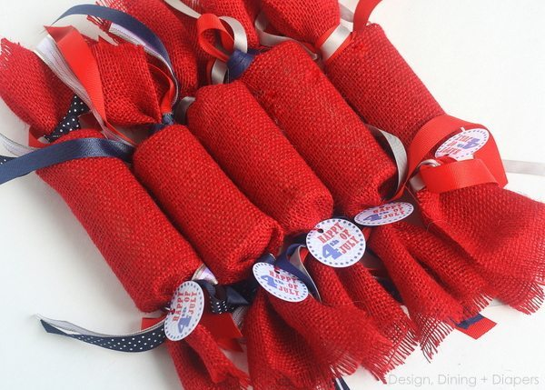 18 - Design Dining and Diapers - July 4th Favors