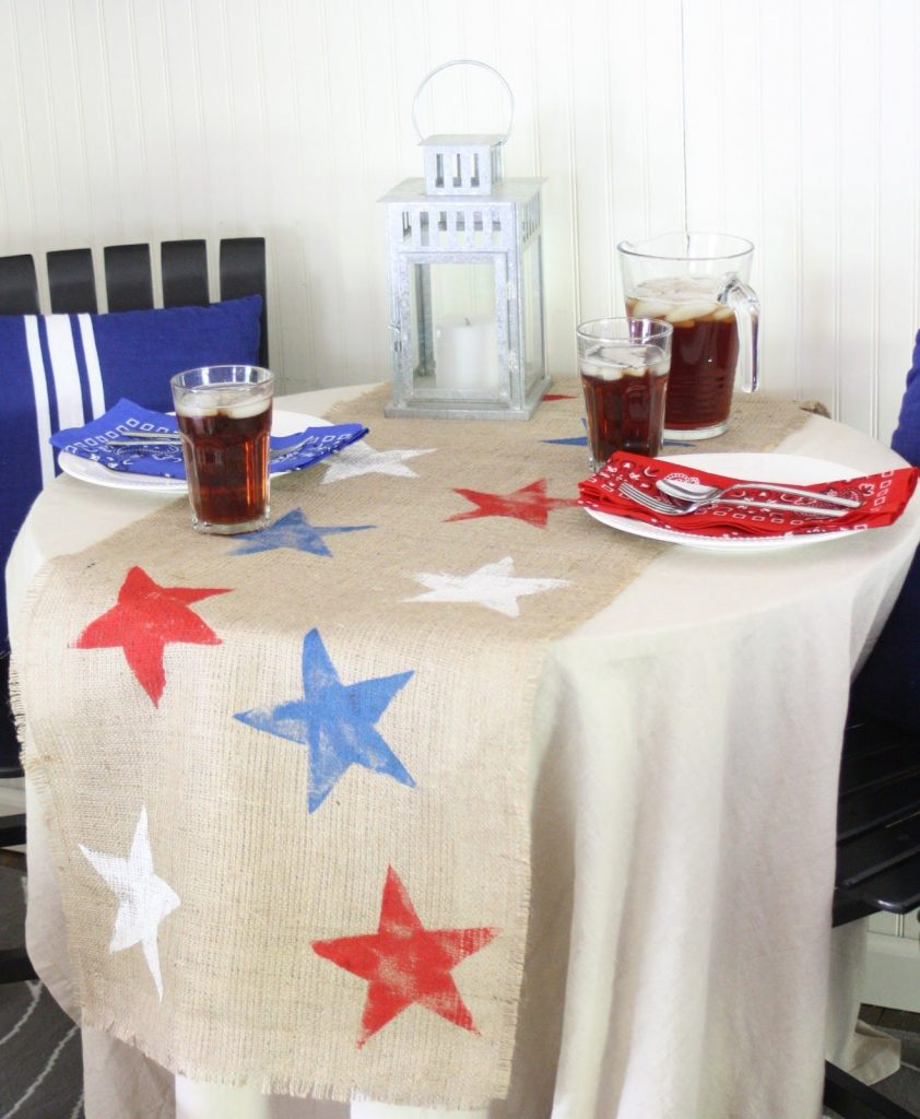 19 - The Shabby Creek Cottage - July 4th Table Runner