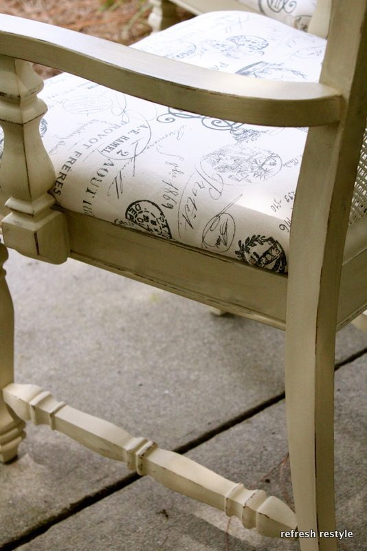 Chair painted with Annie Sloan Chalk paint