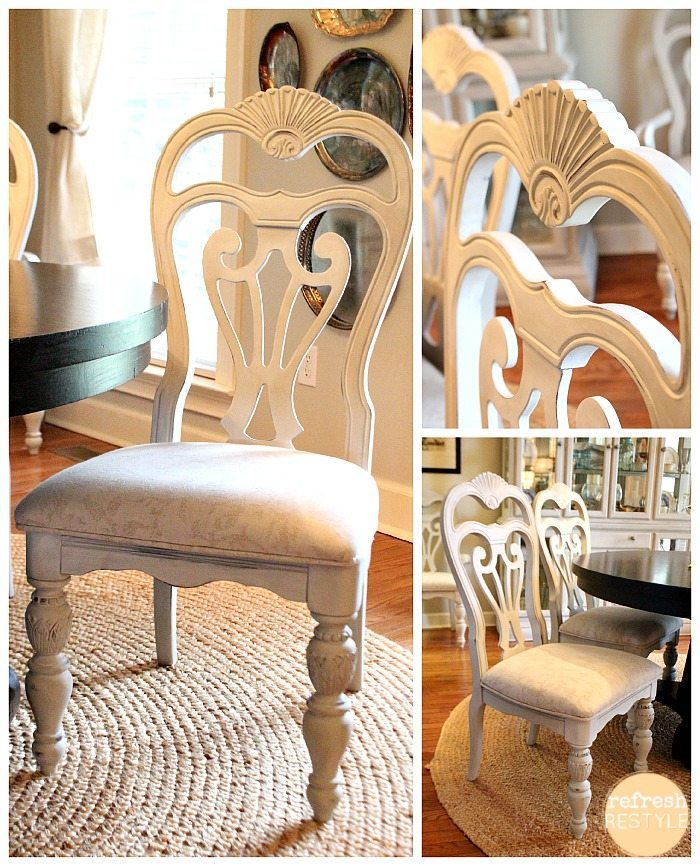 My Go To Paint Makeover Favorites plus a painters dream  : Dining Chair 10 from foxhollowcottage.com size 700 x 866 jpeg 150kB
